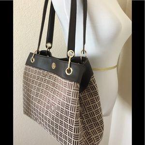 Anne Klein brown shoulder bag monogrammed bag new